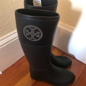 Tory Burch Black Rain Boots